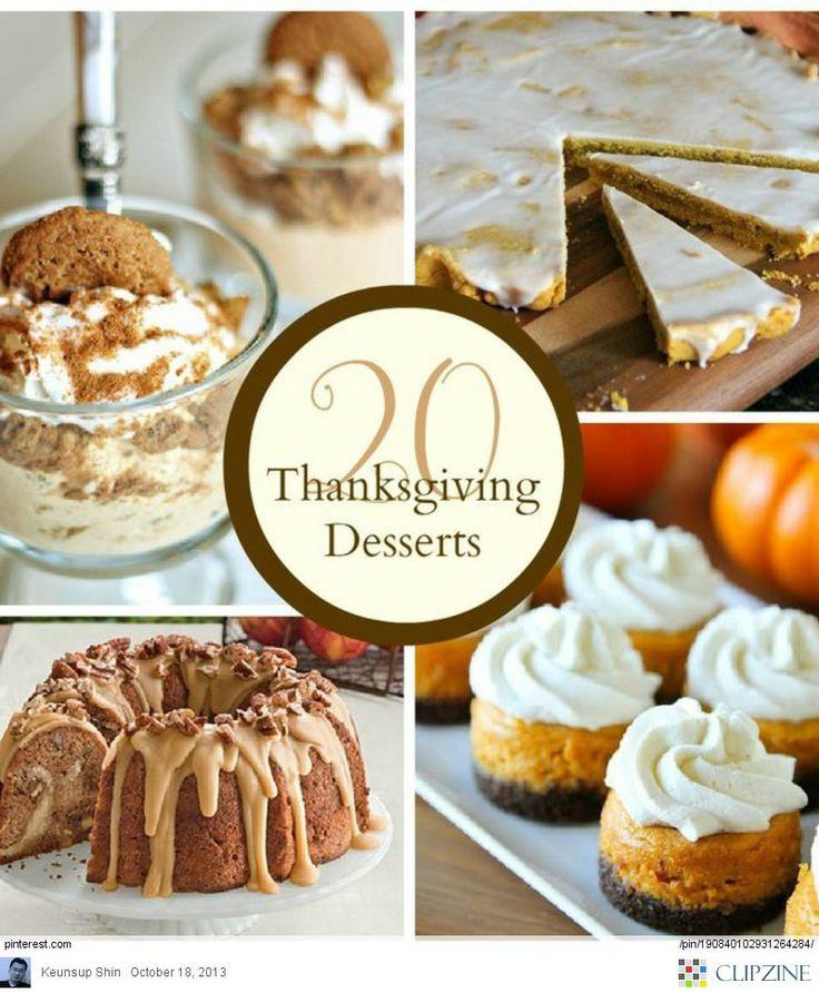 Thanksgiving Dessert Ideas  Thanksgiving desserts Ideas Thanksgiving