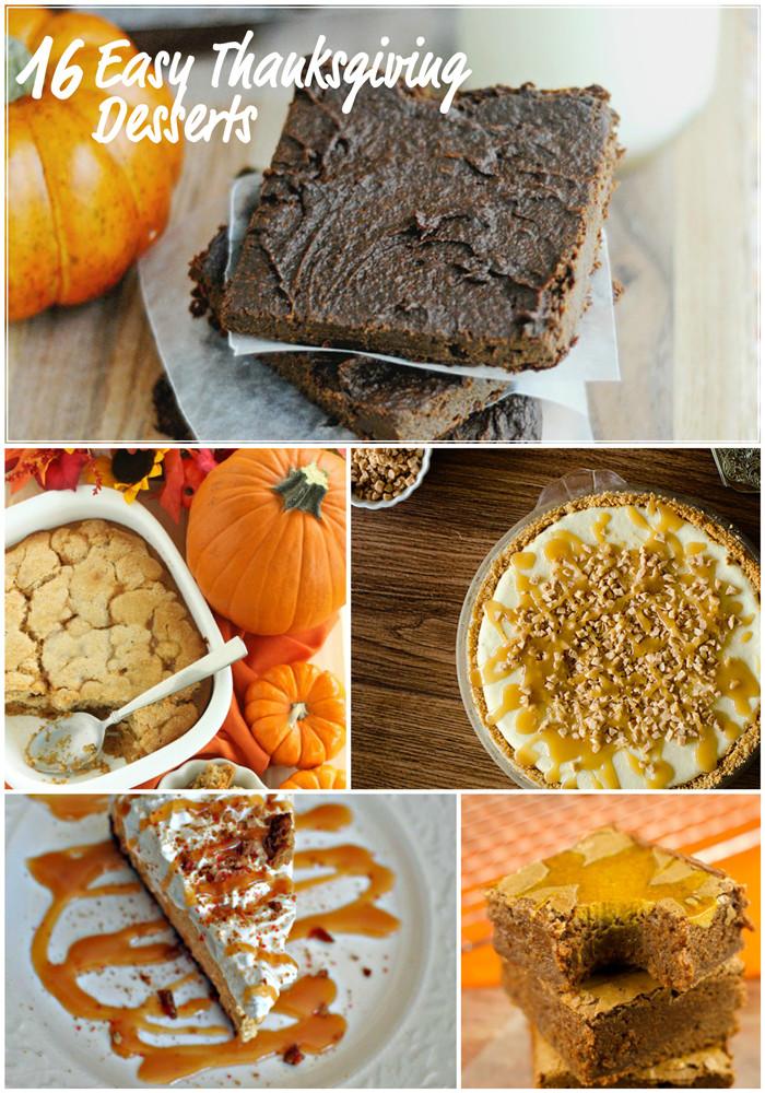 Thanksgiving Dessert Ideas  Easy Thanksgiving Dessert Recipes – April Golightly