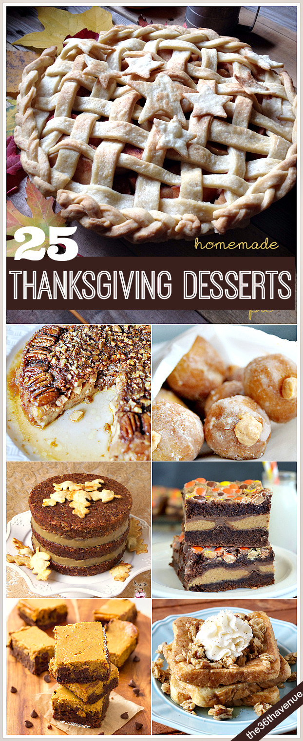 Thanksgiving Dessert Recipes  25 Thanksgiving Recipes Desserts and Treats The 36th