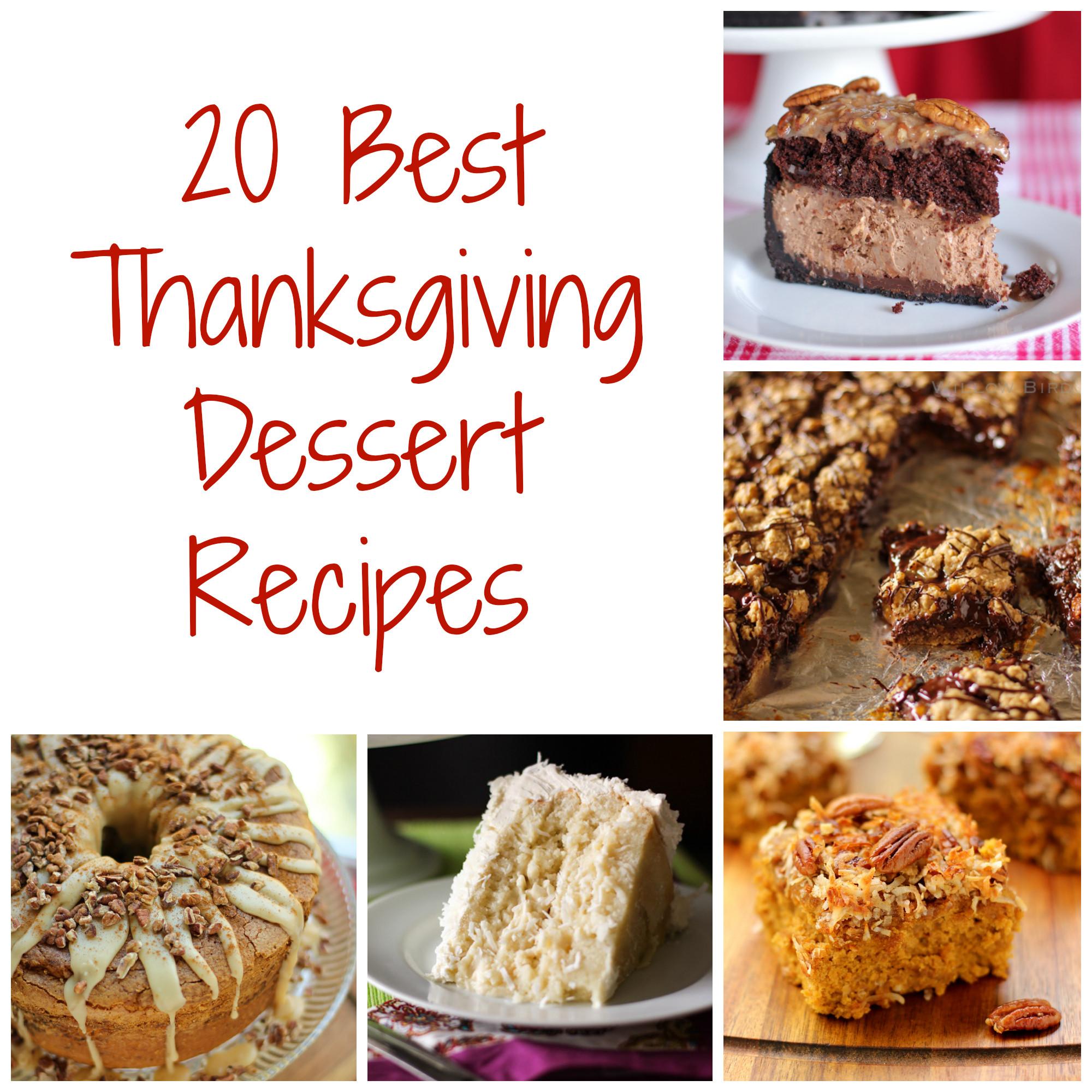 Thanksgiving Dessert Recipes  Thanksgiving Dessert Recipes Willow Bird Baking