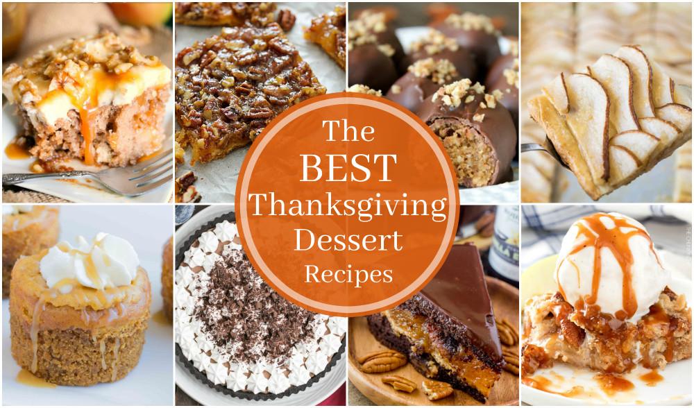 Thanksgiving Dessert Recipes  17 of the BEST Thanksgiving Dessert Recipes Big Bear s Wife