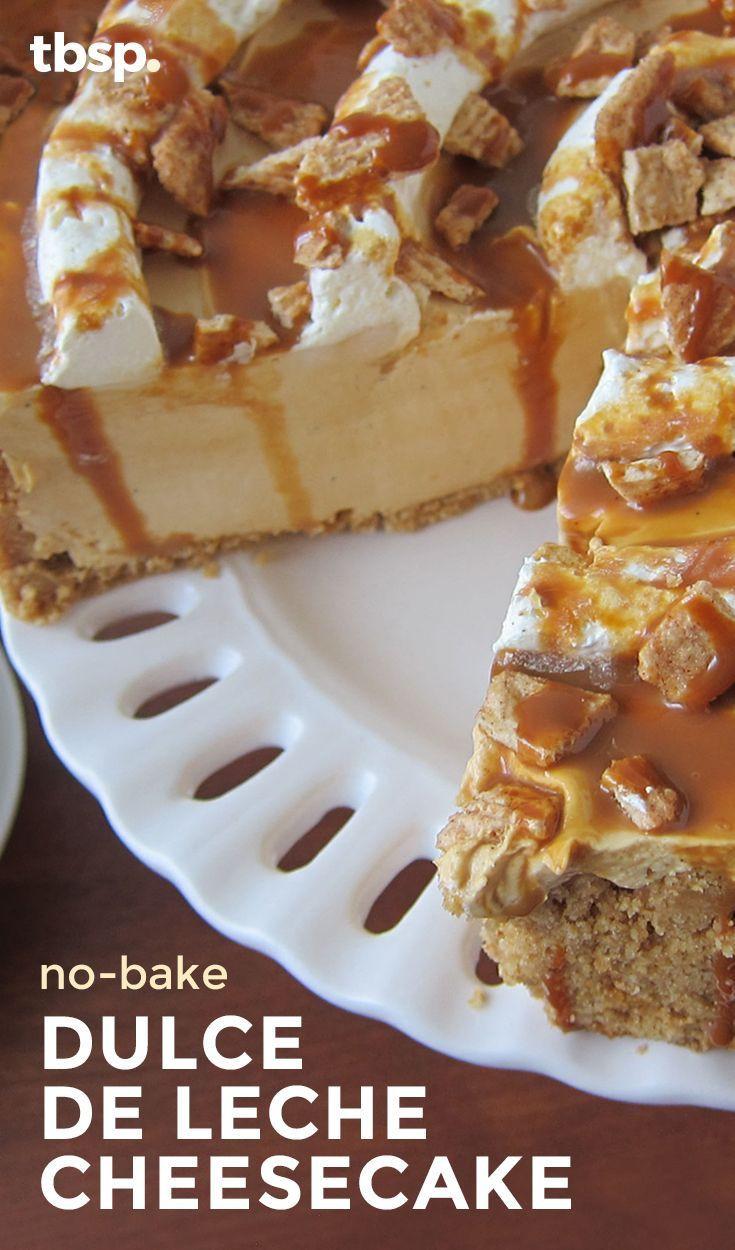 Thanksgiving Desserts 2019  nobake dulce de leche cheesecake BestCaramel