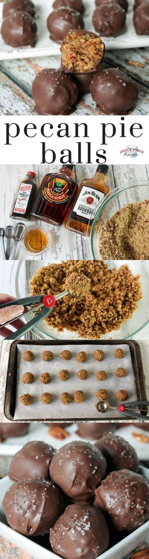 Thanksgiving Desserts 2019  Pecan Pie Balls Receta en 2019 Desserts