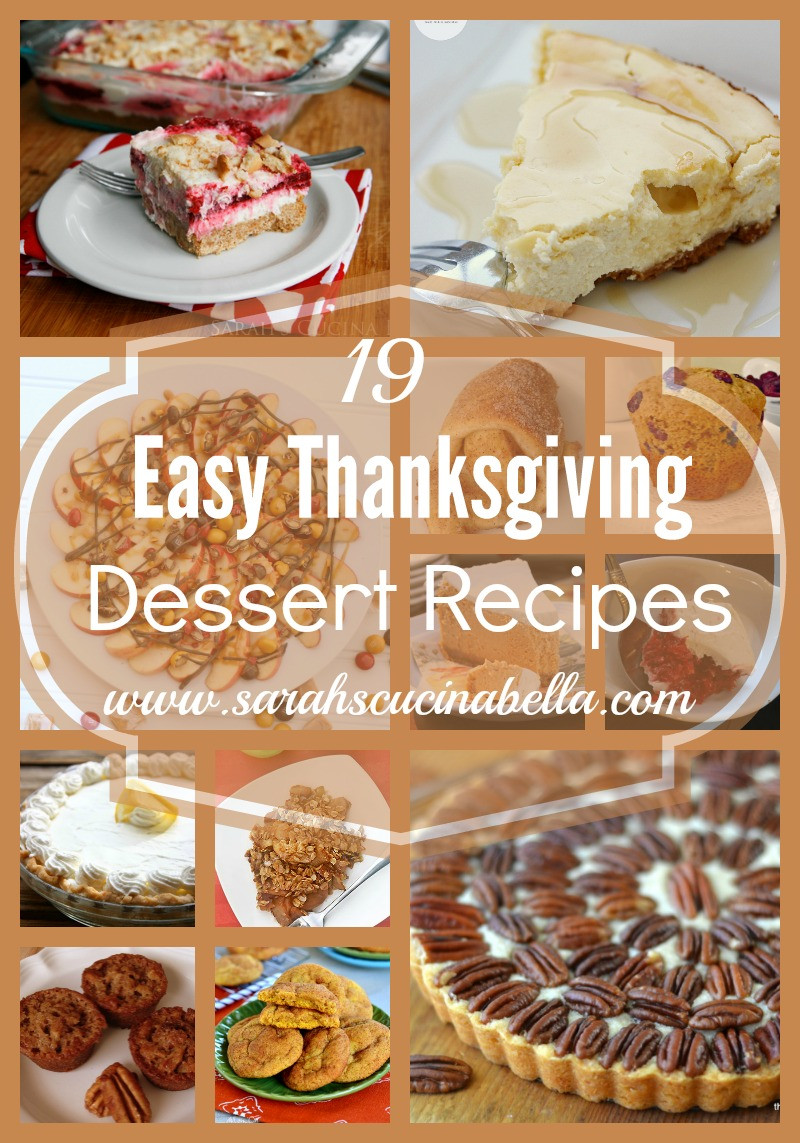 Thanksgiving Desserts Easy  19 Easy Thanksgiving Dessert Recipes