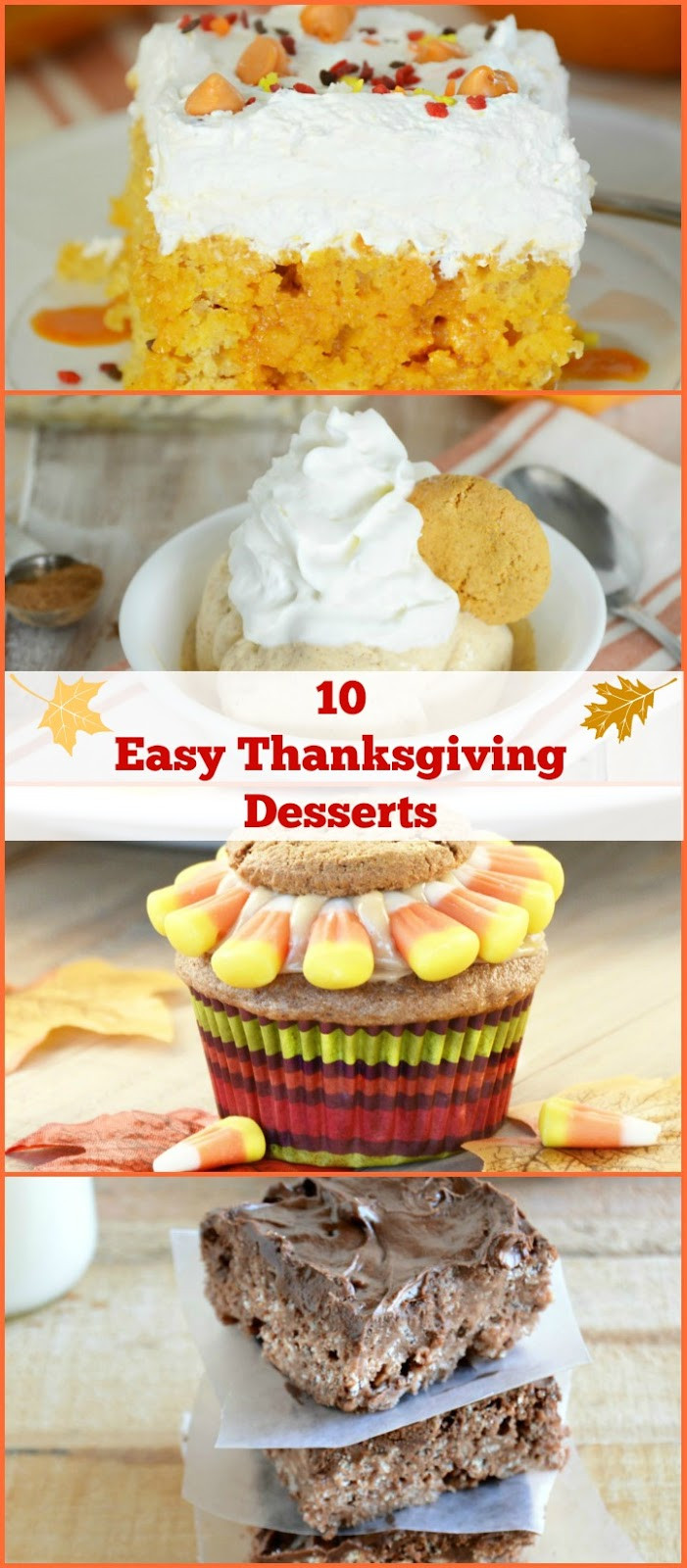 Thanksgiving Desserts Easy  10 Easy Thanksgiving Dessert Ideas Meatloaf and Melodrama