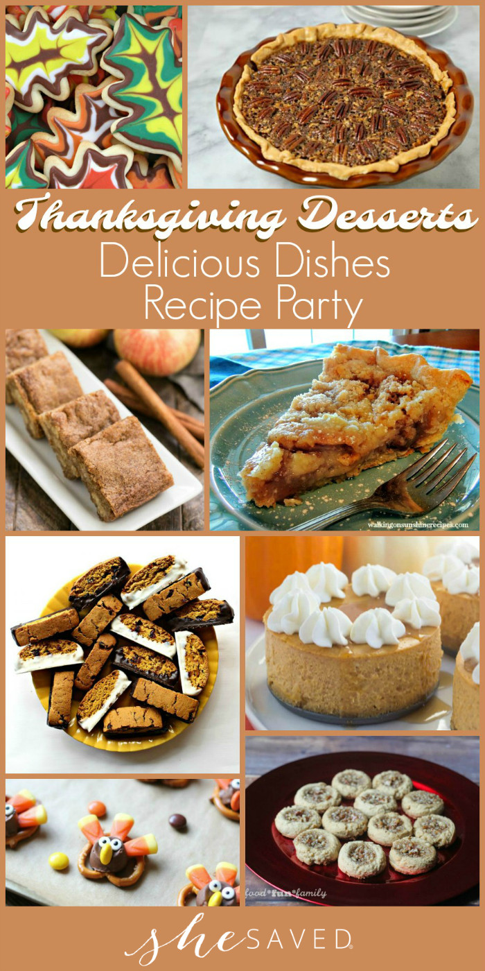 Thanksgiving Desserts List  Delicious Dishes Party Favorite Thanksgiving Desserts