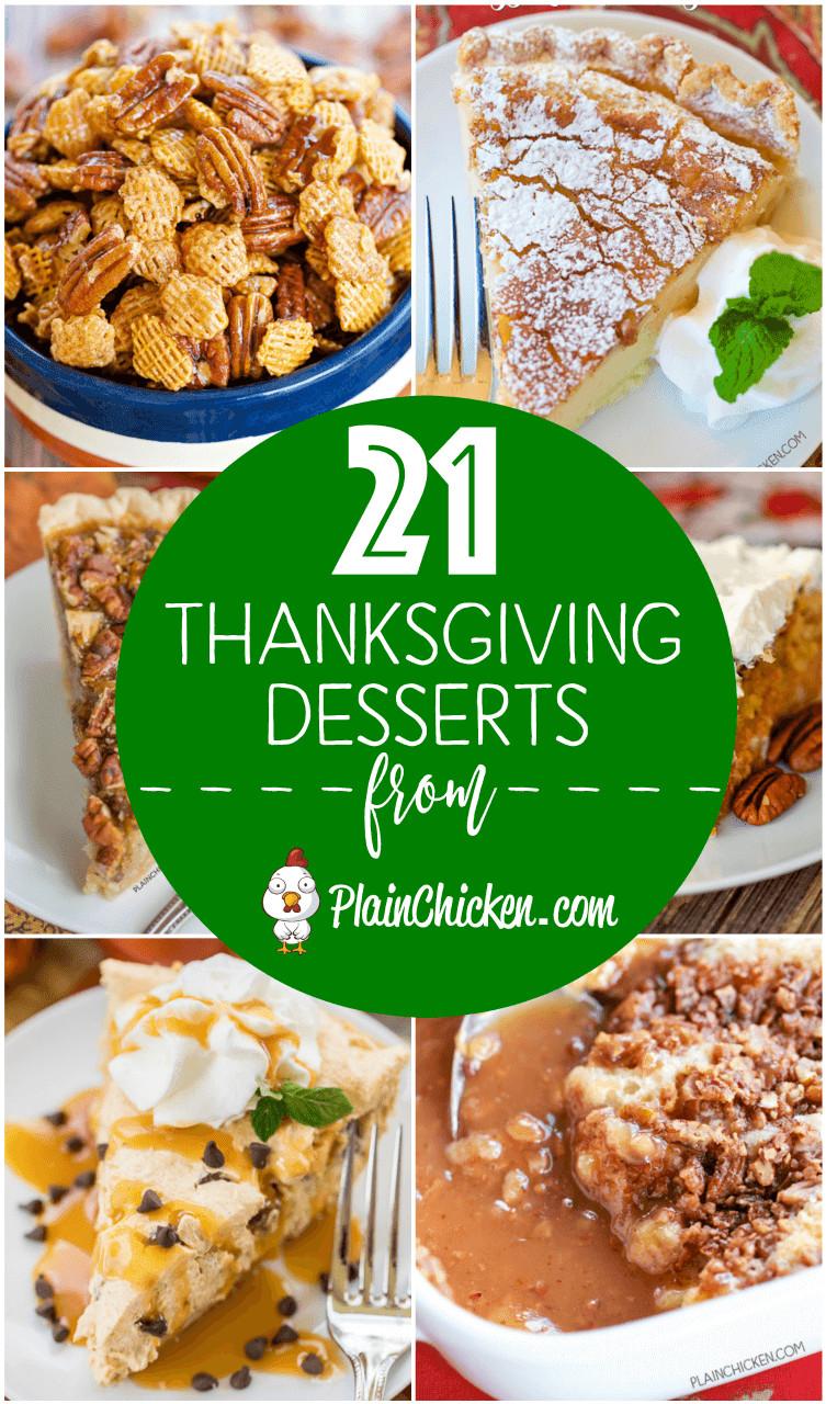 Thanksgiving Desserts List  21 of the BEST Thanksgiving Desserts