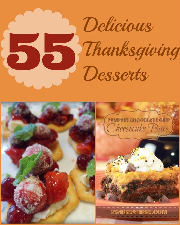 Thanksgiving Desserts List  55 Delicious Thanksgiving Desserts