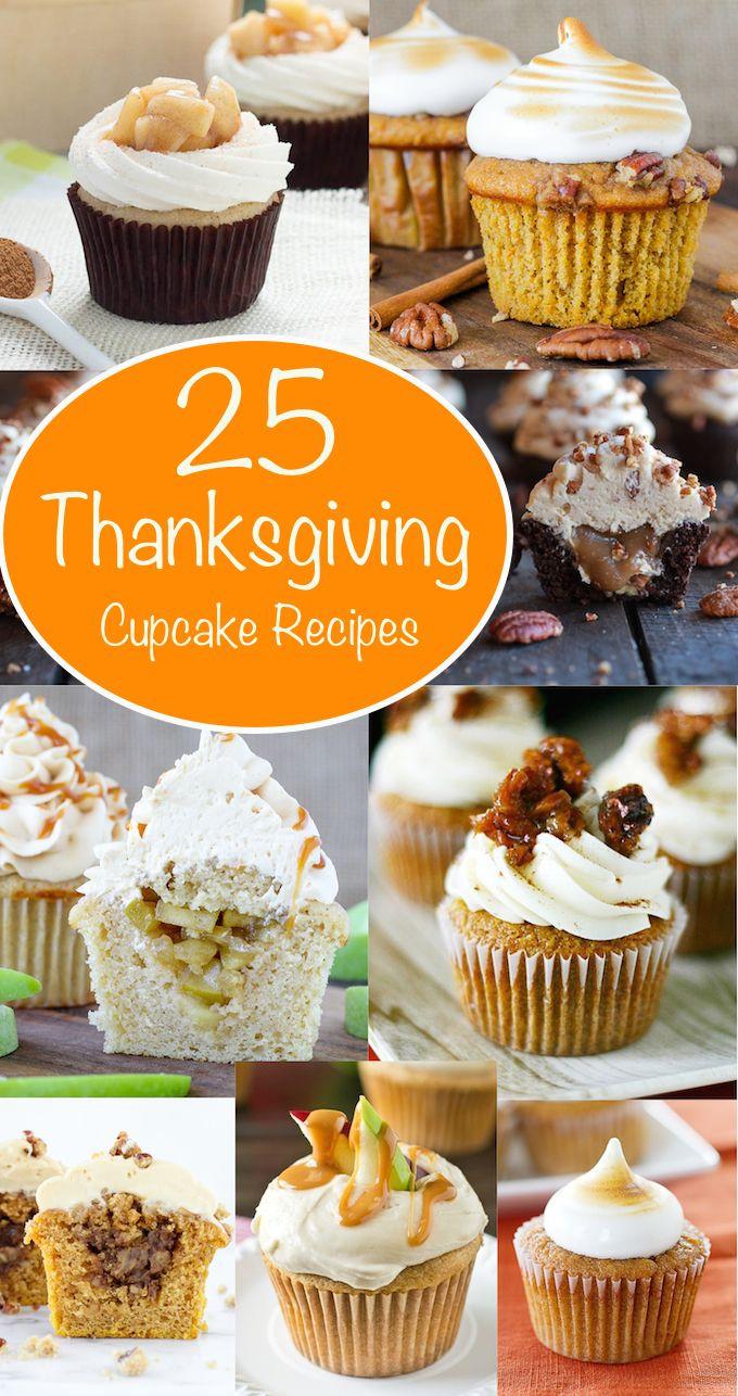 Thanksgiving Desserts Pinterest  25 great ideas about Thanksgiving cupcakes on Pinterest