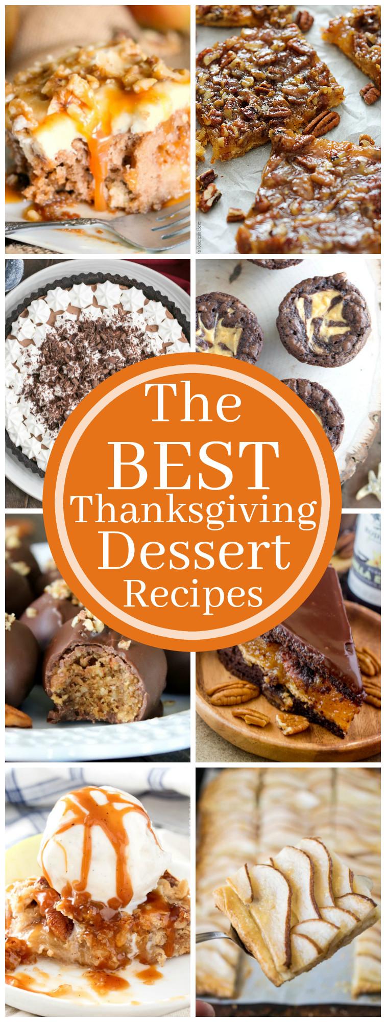 Thanksgiving Desserts Pinterest  Best Thanksgiving Dessert Recipes Kleinworth & Co