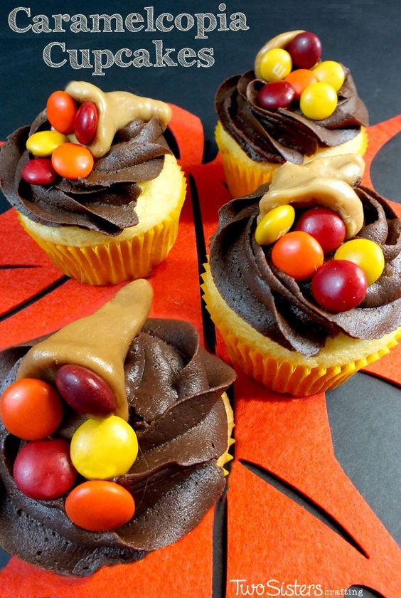 Thanksgiving Desserts Pinterest  Thanksgiving Caramelcopia Cupcakes