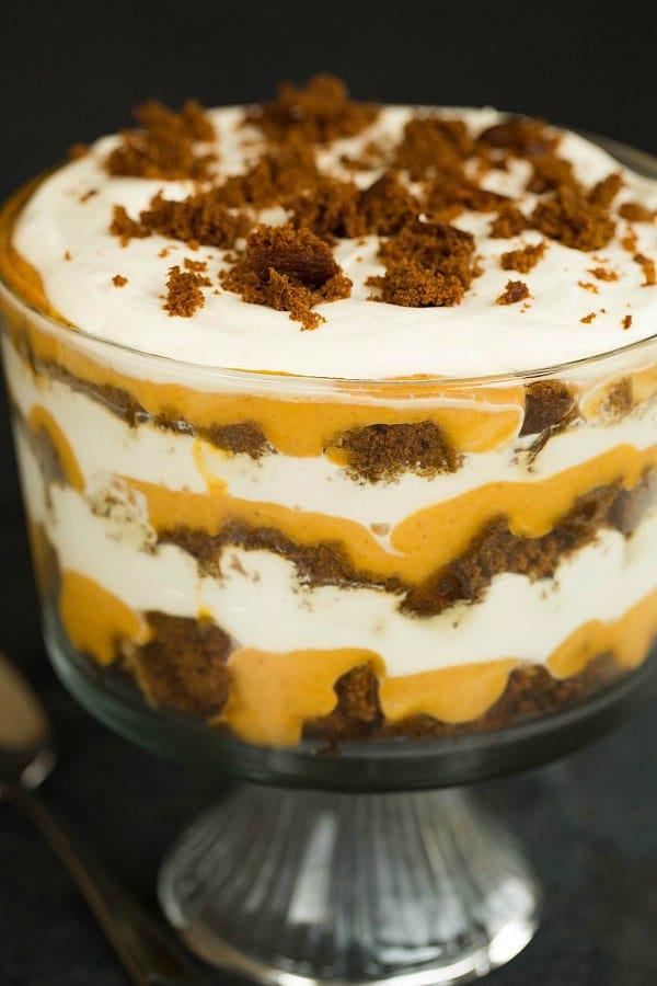 Thanksgiving Desserts Recipes  Pumpkin Gingerbread Trifle Recipe