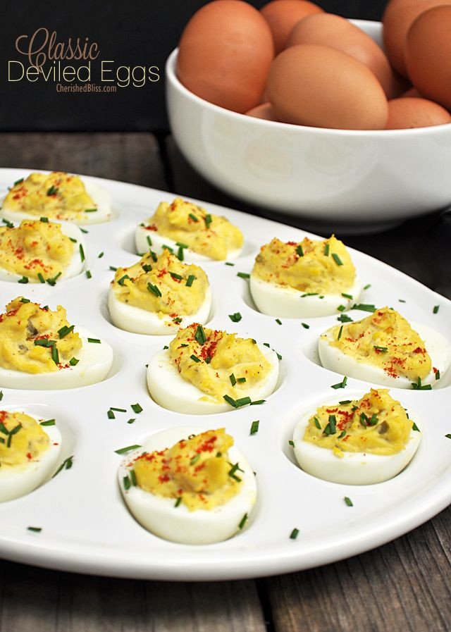 Thanksgiving Deviled Eggs  Classic Deviled Egg Recipe Appetizers