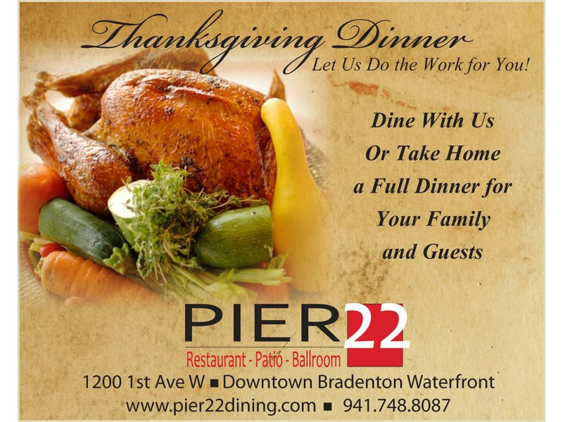 Thanksgiving Dinner Catering  PIER 22 Restaurant Patio Ballroom and Catering offers a