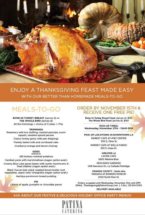 Thanksgiving Dinner Catering  This Thanksgiving Have Someone Else Do the Cooking Dine