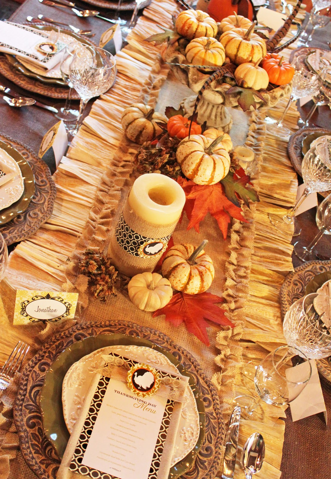 Thanksgiving Dinner Decorations  Amanda s Parties To Go Thanksgiving Dinner Tablescape