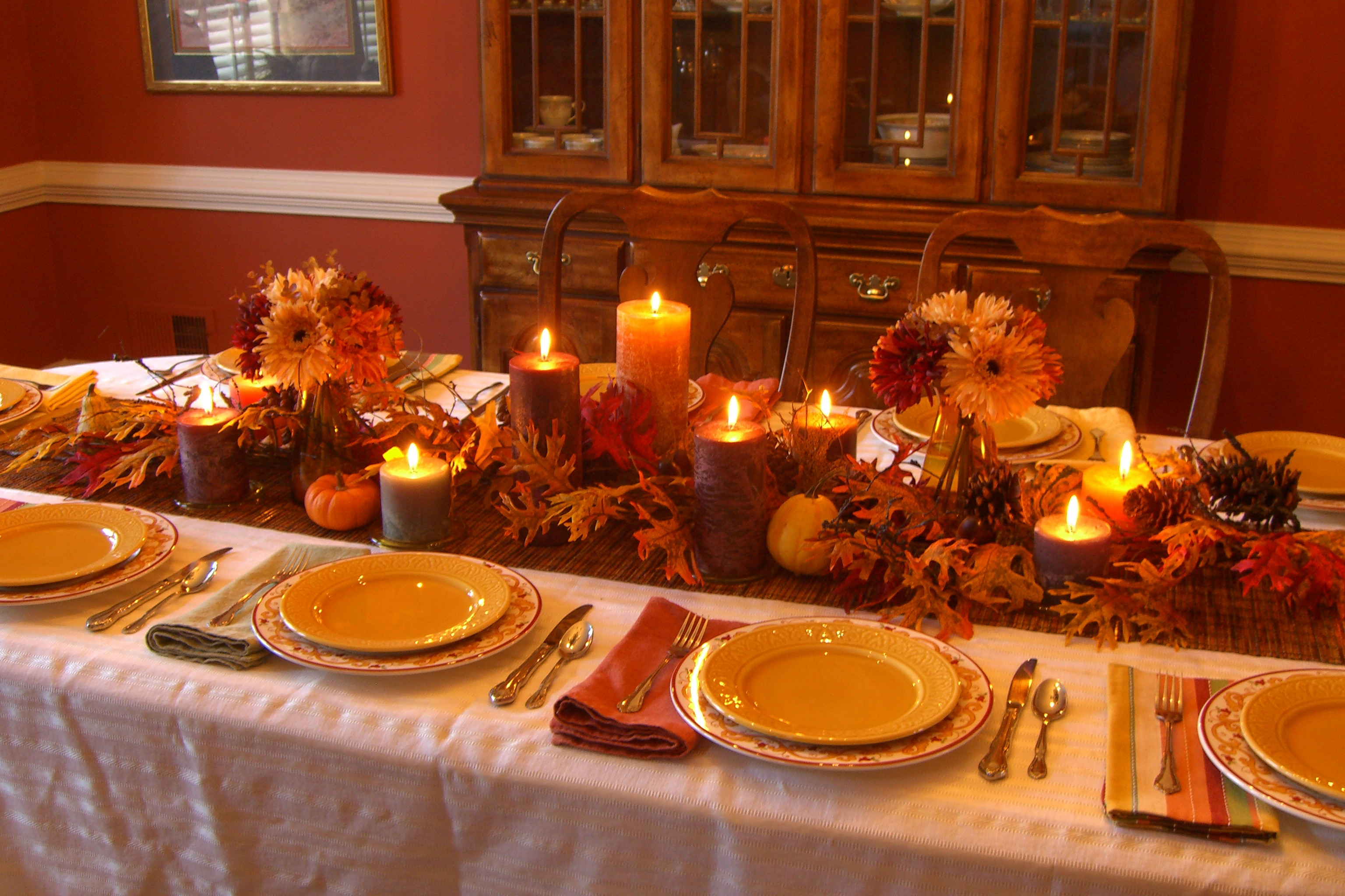 Thanksgiving Dinner Decorations  Decorating My Thanksgiving Table