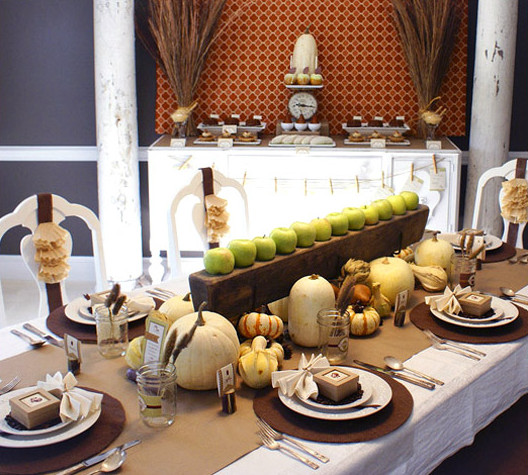 Thanksgiving Dinner Decorations  5 Harvest Themed Thanksgiving Tables