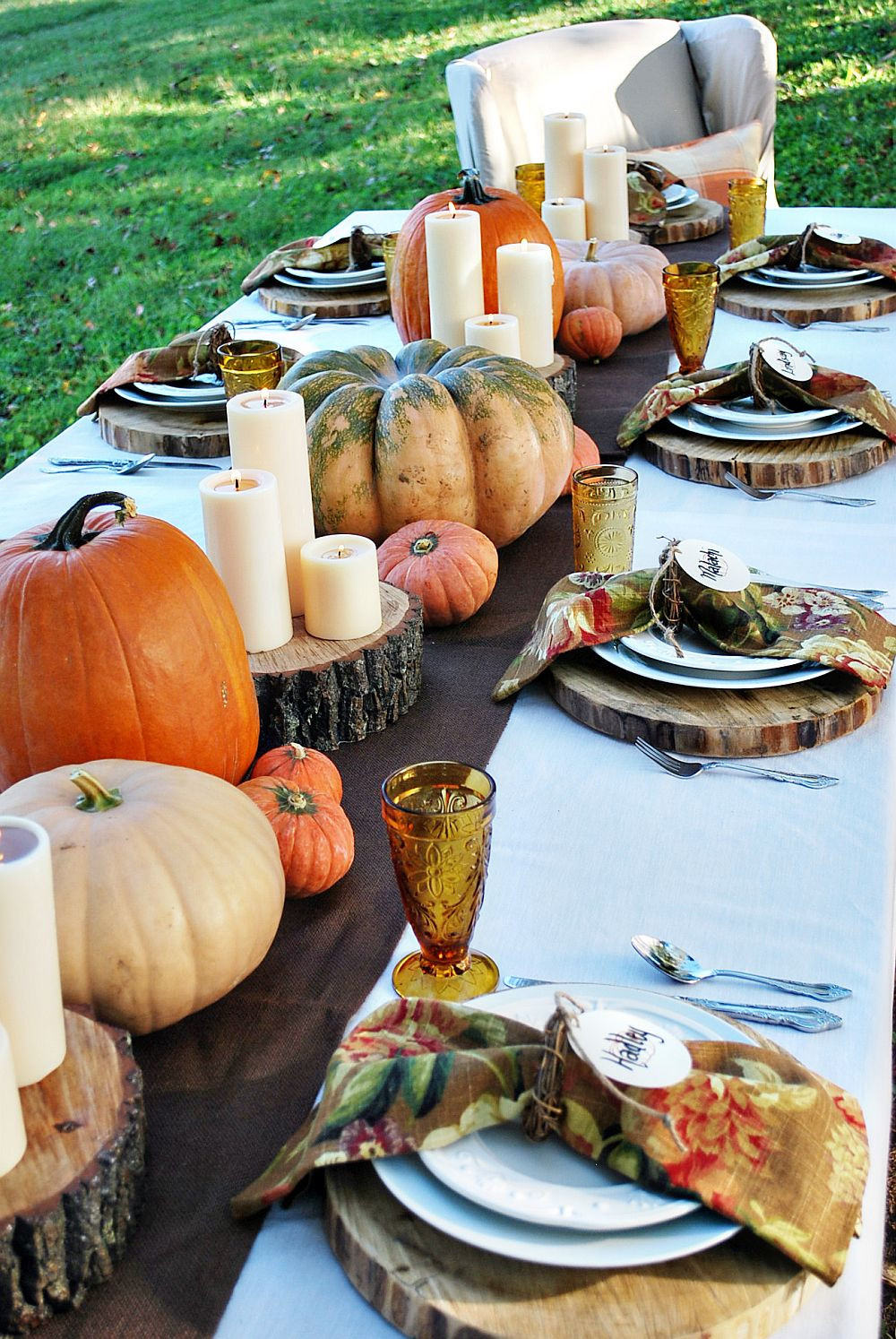 Thanksgiving Dinner Decorations  15 Outdoor Thanksgiving Table Settings for Dining Alfresco