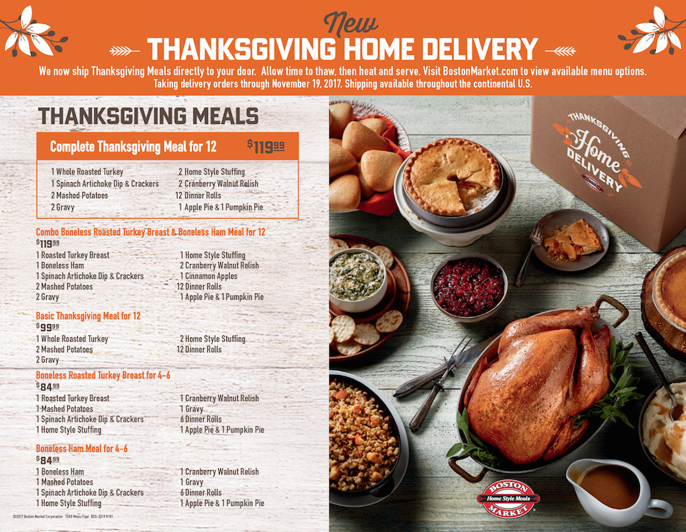 Thanksgiving Dinner Delivery  Boston Market Is Making Thanksgiving Day Wonderful For
