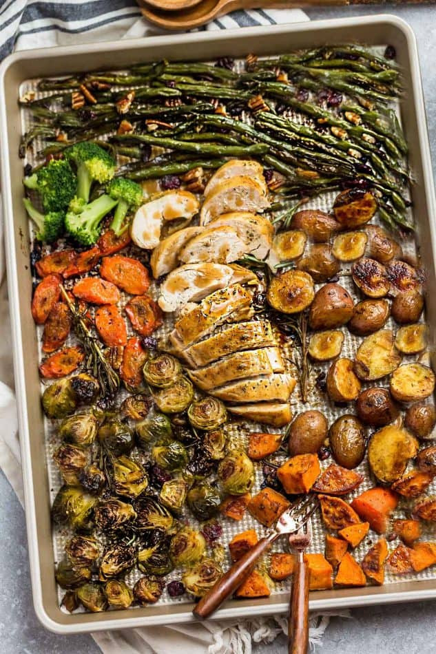 Thanksgiving Dinner For One  Sheet Pan Turkey Dinner