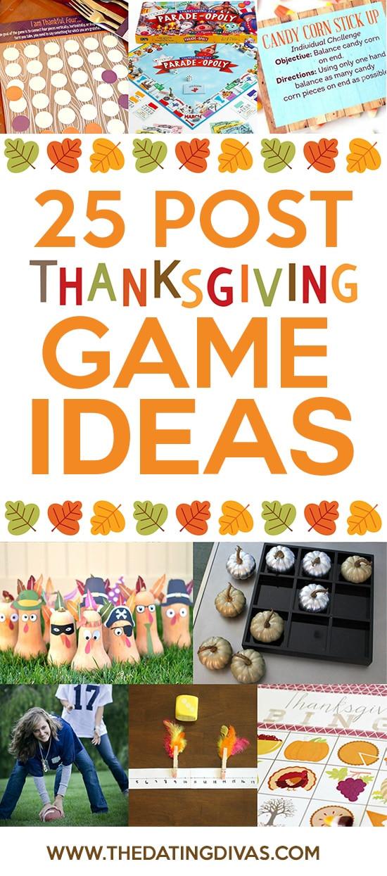 Thanksgiving Dinner Games  50 Post Thanksgiving Dinner Ideas The Dating Divas