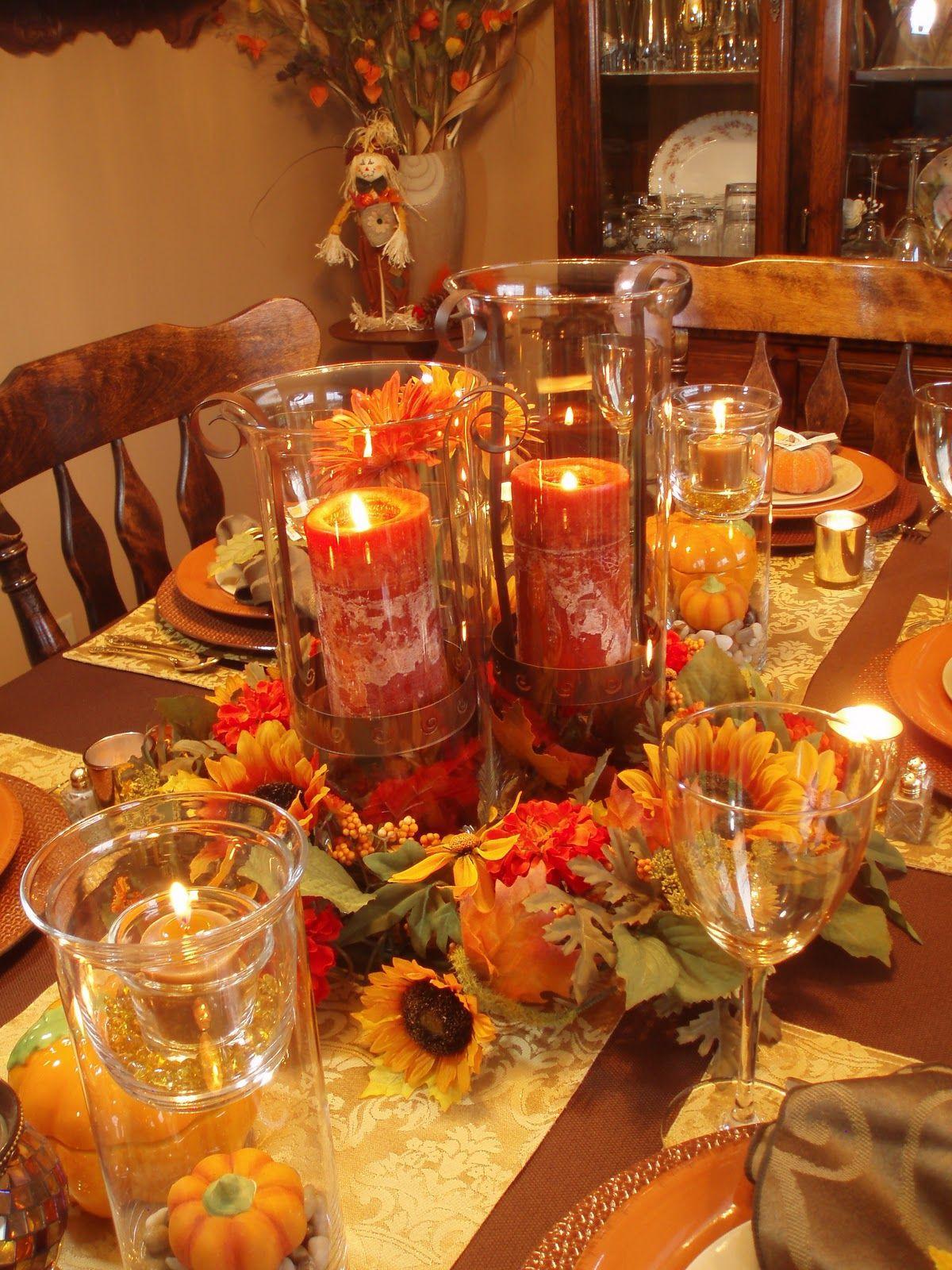 Thanksgiving Dinner Ideas Pinterest  Autumn Tablescape Thanksgiving Table Fall Decor