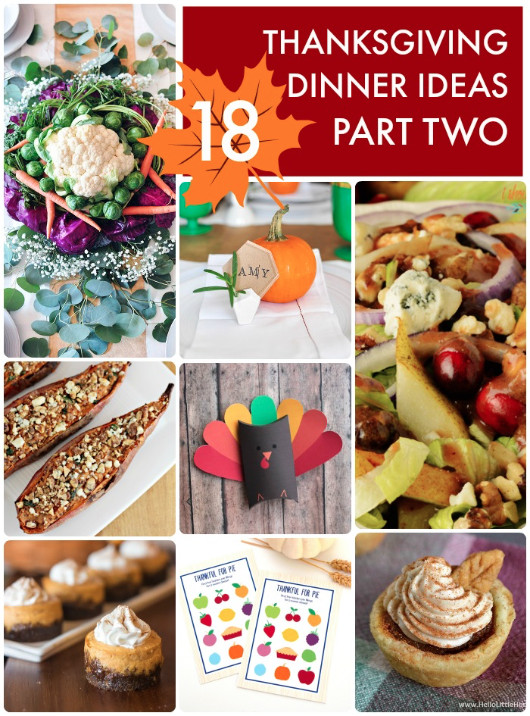 Thanksgiving Dinner Ideas Pinterest  Great Ideas 18 Thanksgiving Dinner Ideas Part Two