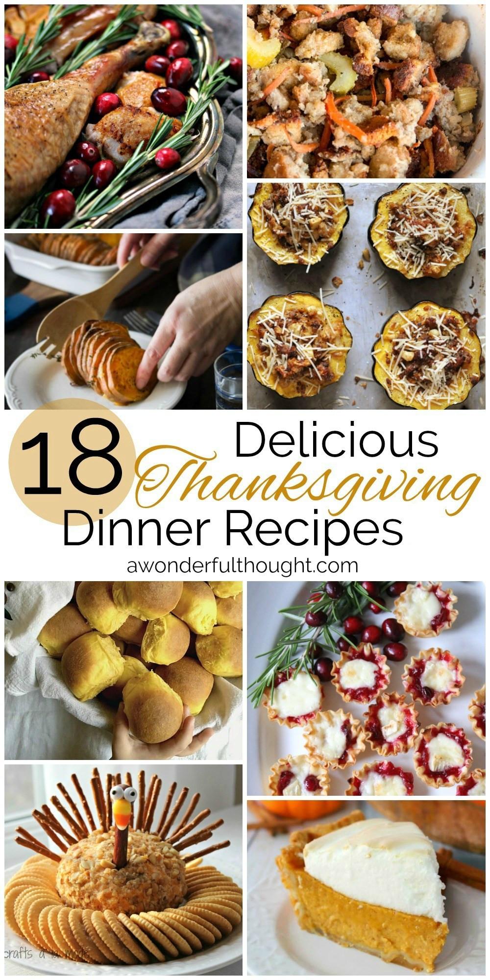 Thanksgiving Dinner Ideas Pinterest  Thanksgiving Dinner Recipes
