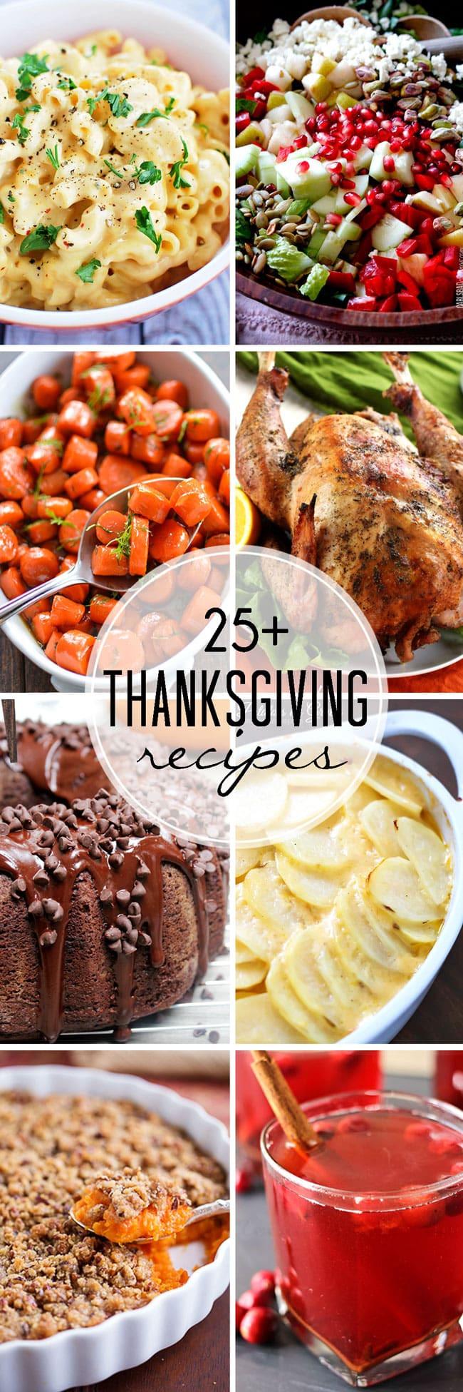 Thanksgiving Dinner Ideas Pinterest  25 Thanksgiving Recipes Easy Peasy Meals