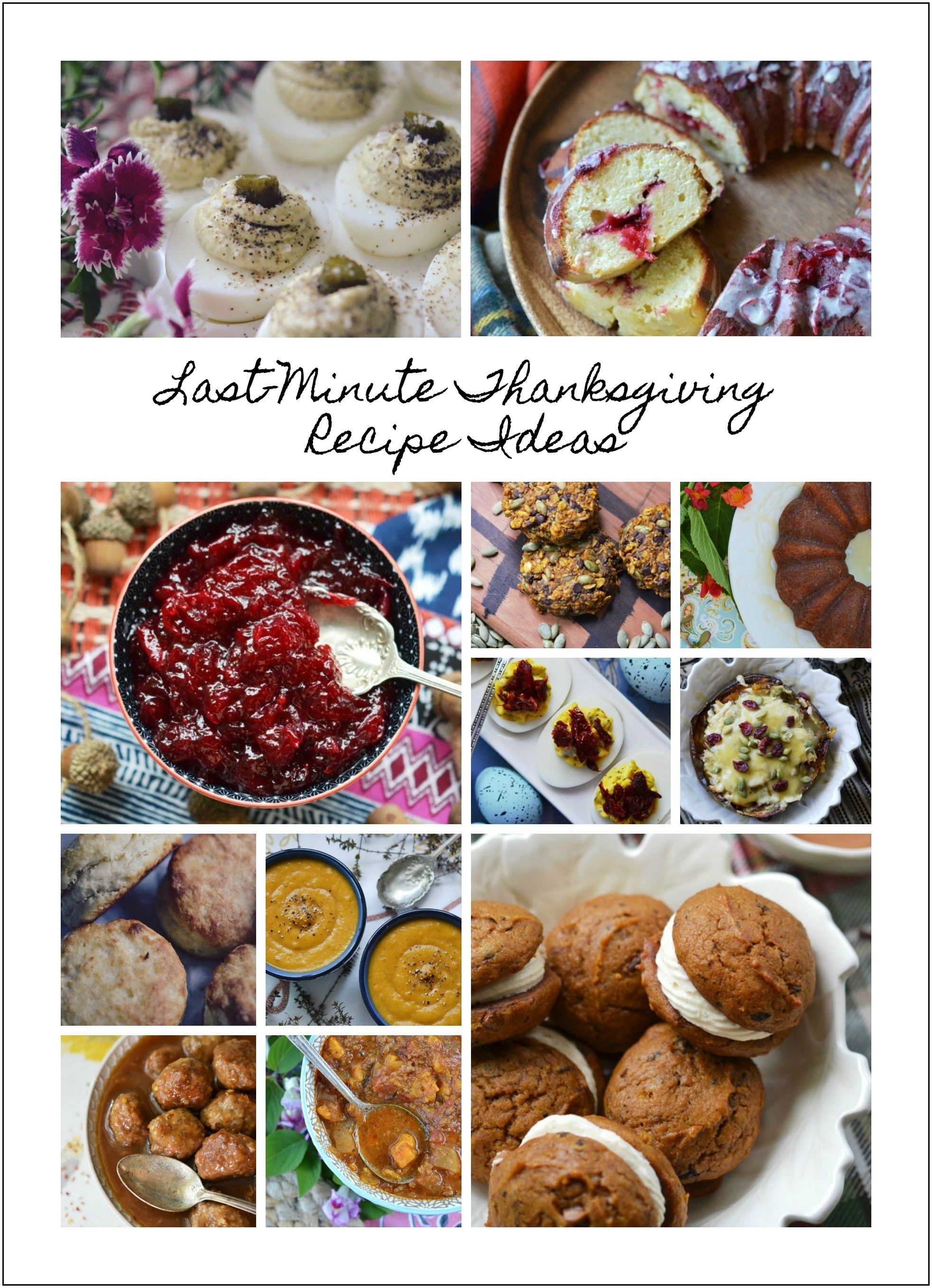 Thanksgiving Dinner Ideas Without Turkey  Last Minute Thanksgiving Recipe Ideas – 2017