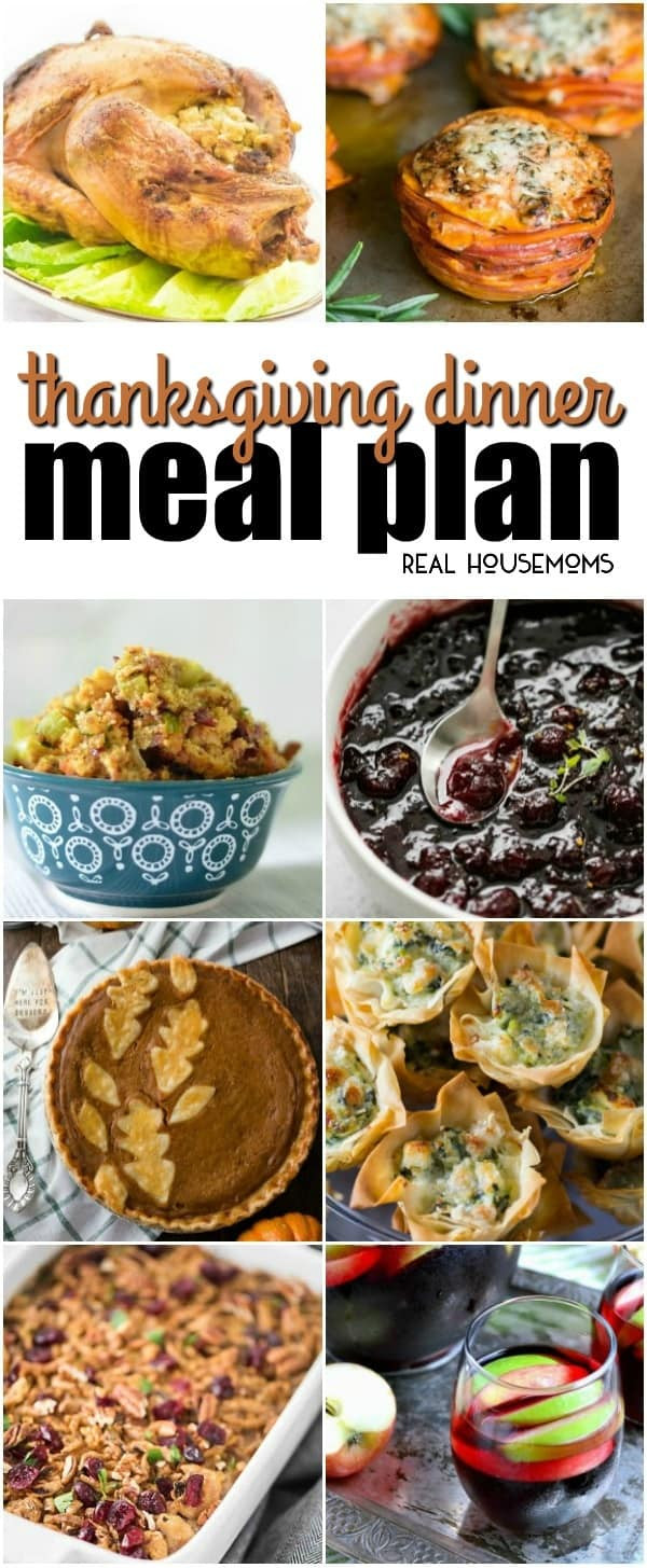 Thanksgiving Dinner Ideas Without Turkey  Thanksgiving Dinner Meal Plan ⋆ Real Housemoms