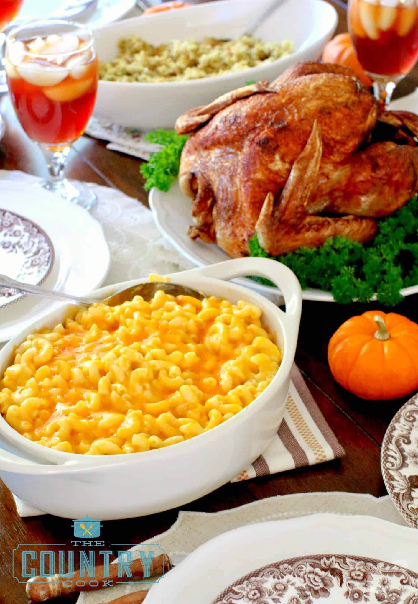Thanksgiving Dinner In A Can  Slow Cooker Macaroni and Cheese The Country Cook slow cooker