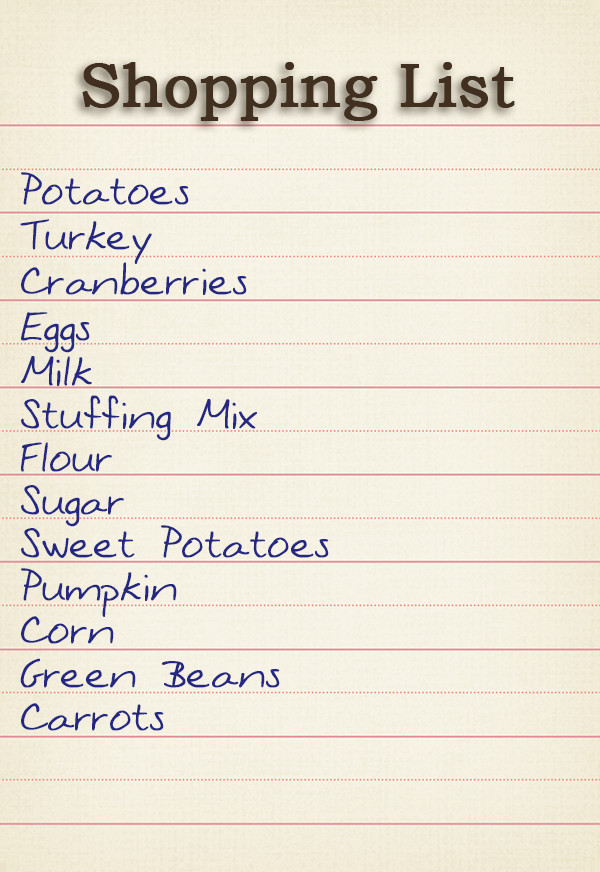 Thanksgiving Dinner List  The Geography of Thanksgiving Dinner