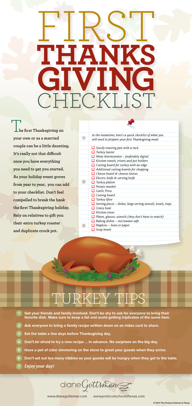 Thanksgiving Dinner List  A Thanksgiving Dinner Checklist Diane Gottsman National