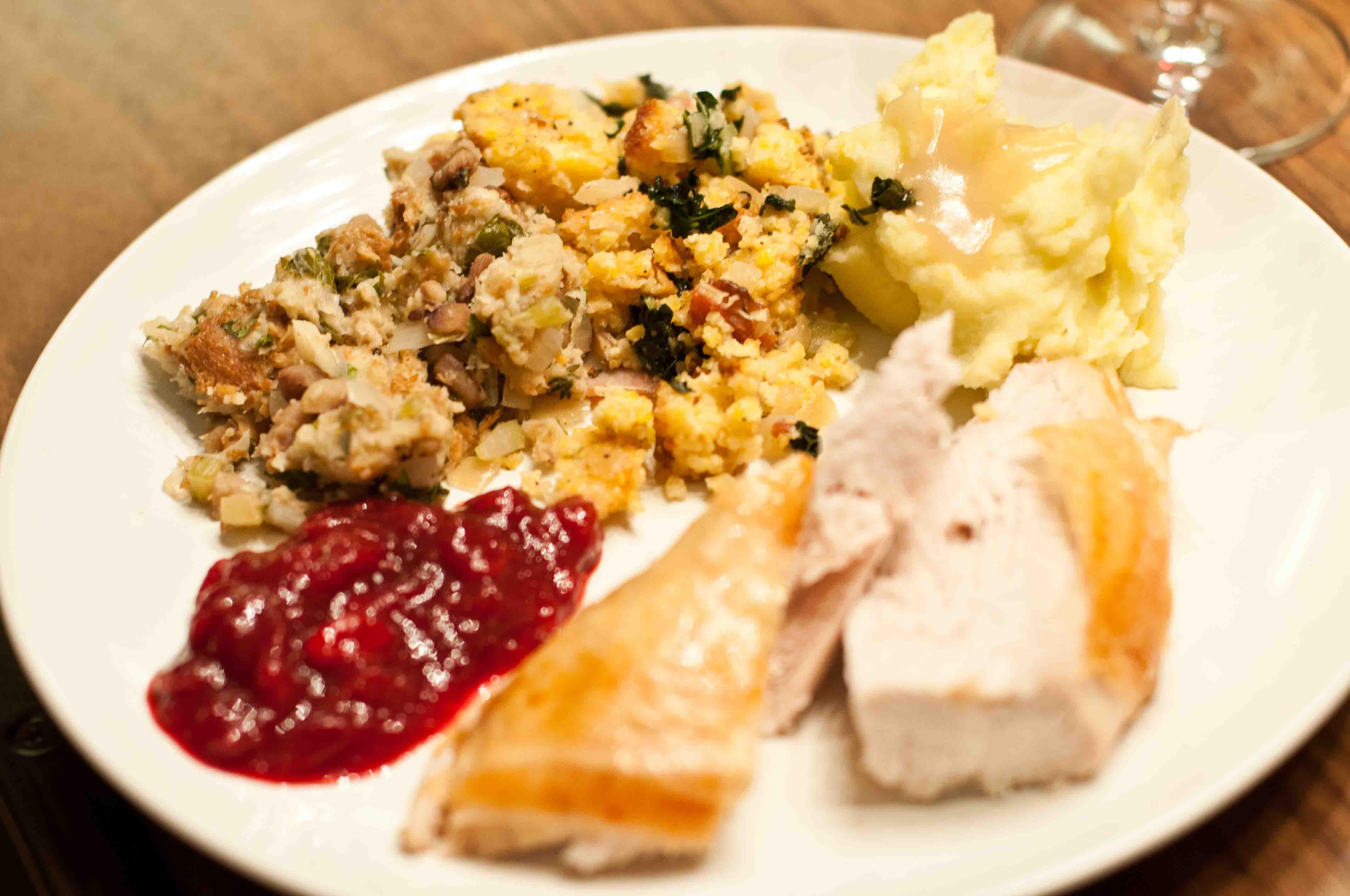 Thanksgiving Dinner Plate  Thanksgiving Dinner Plate & Homemade Turkey Thanksgiving