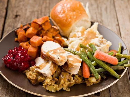 Thanksgiving Dinner Plate  How to your fill on Thanksgiving if you don t like the