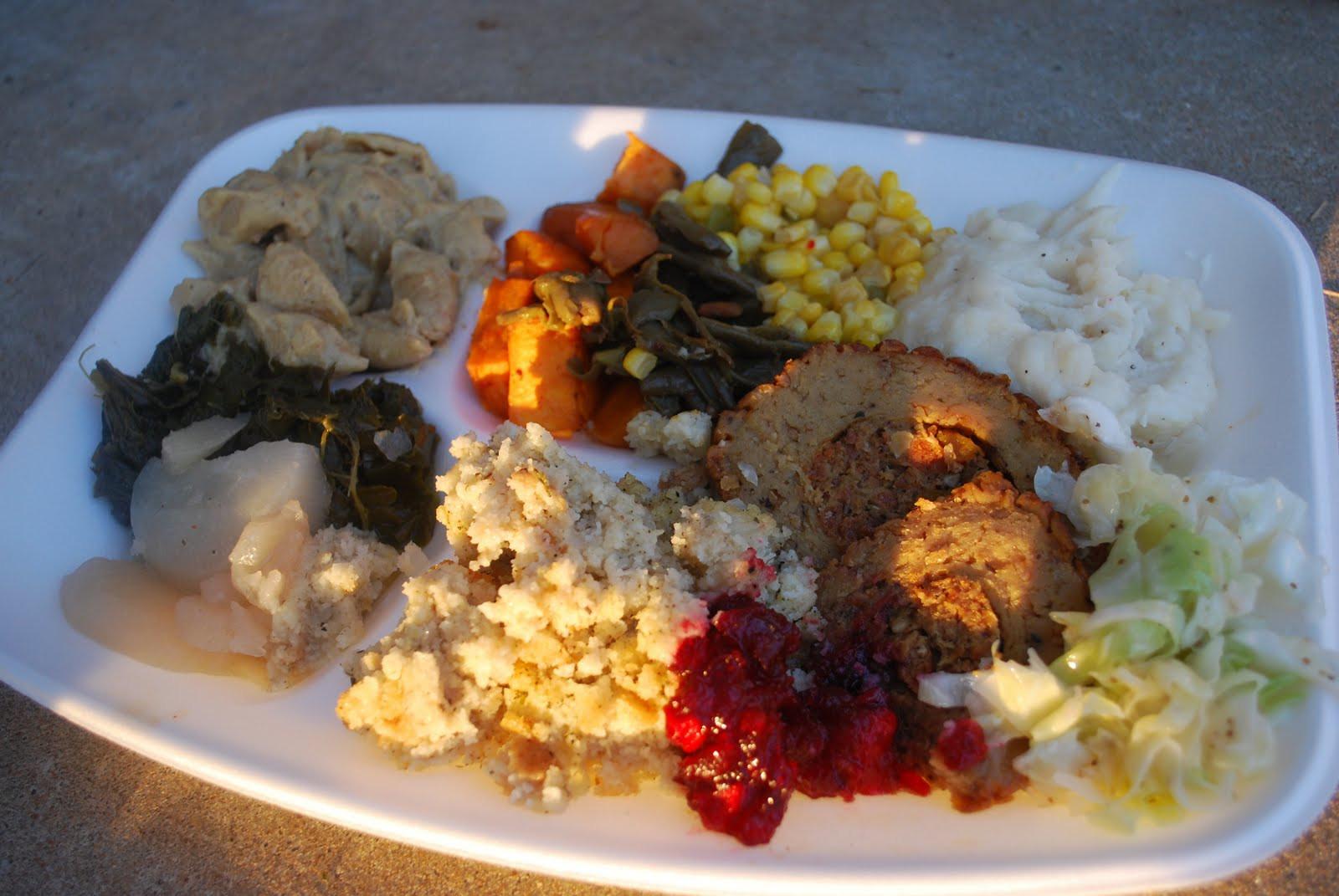 Thanksgiving Dinner Plate  Vegan Crunk November 2009