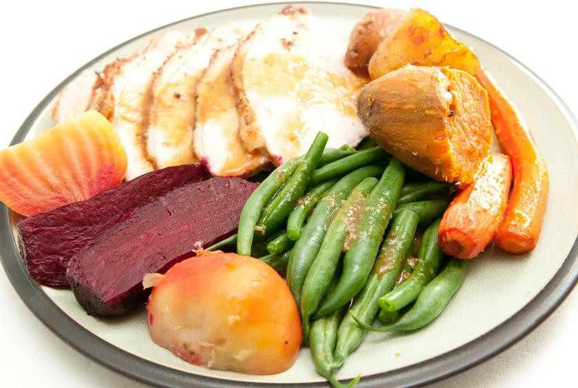 Thanksgiving Dinner Plate  What Does a 1 000 calorie Thanksgiving Plate Look Like