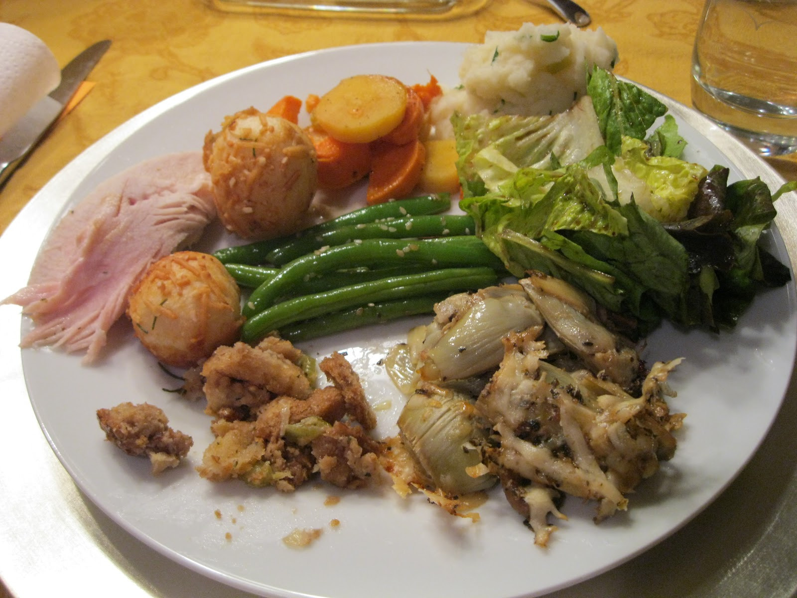 Thanksgiving Dinner Plate  Chewy Morsels Turkey Day Feast