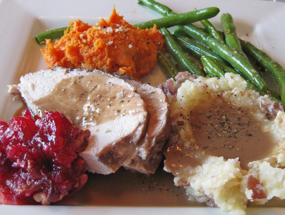 Thanksgiving Dinner Plate  A Thanksgiving Dinner without the cans y our food