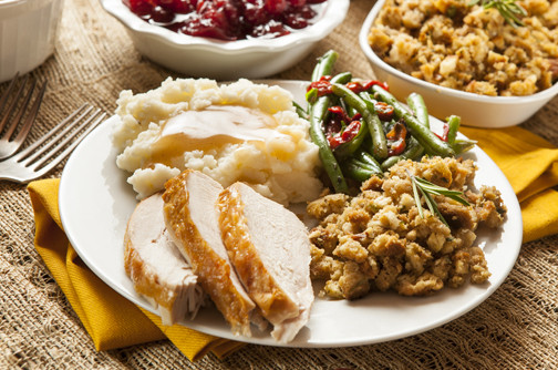 Thanksgiving Dinner Plate  Three Important Thanksgiving Health Tips