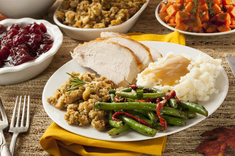 Thanksgiving Dinner Plate  Just how many calories are in that Thanksgiving meal