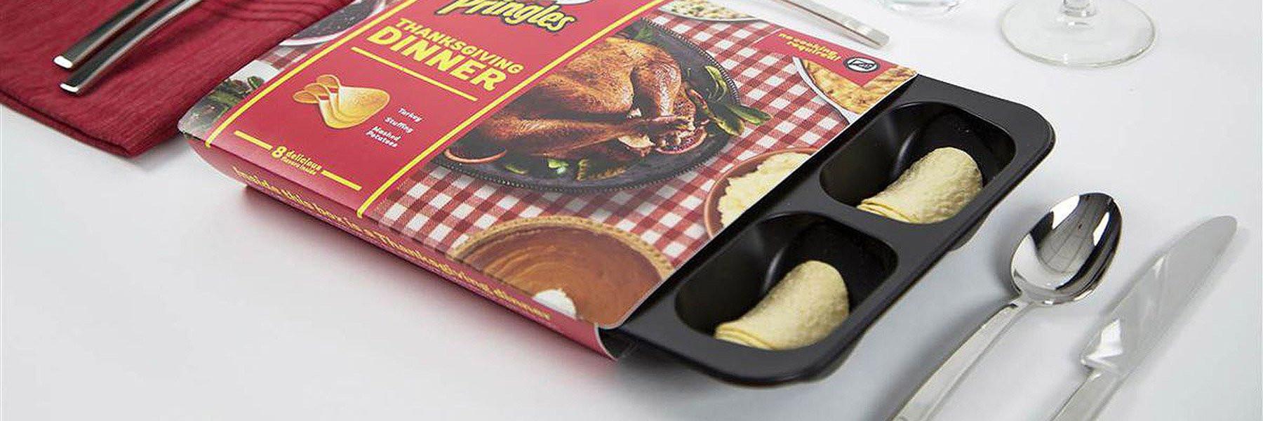 Thanksgiving Dinner Pringles  pringles creates thanksgiving dinner out of potato chips