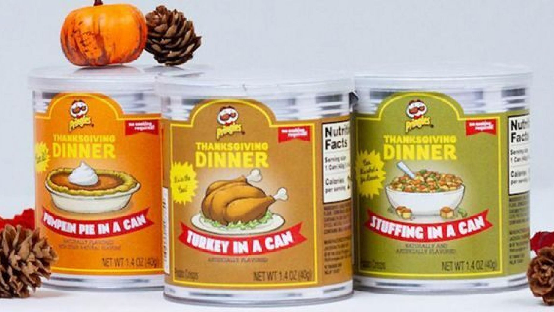 Thanksgiving Dinner Pringles  Pringles selling Thanksgiving dinner in a can with latest