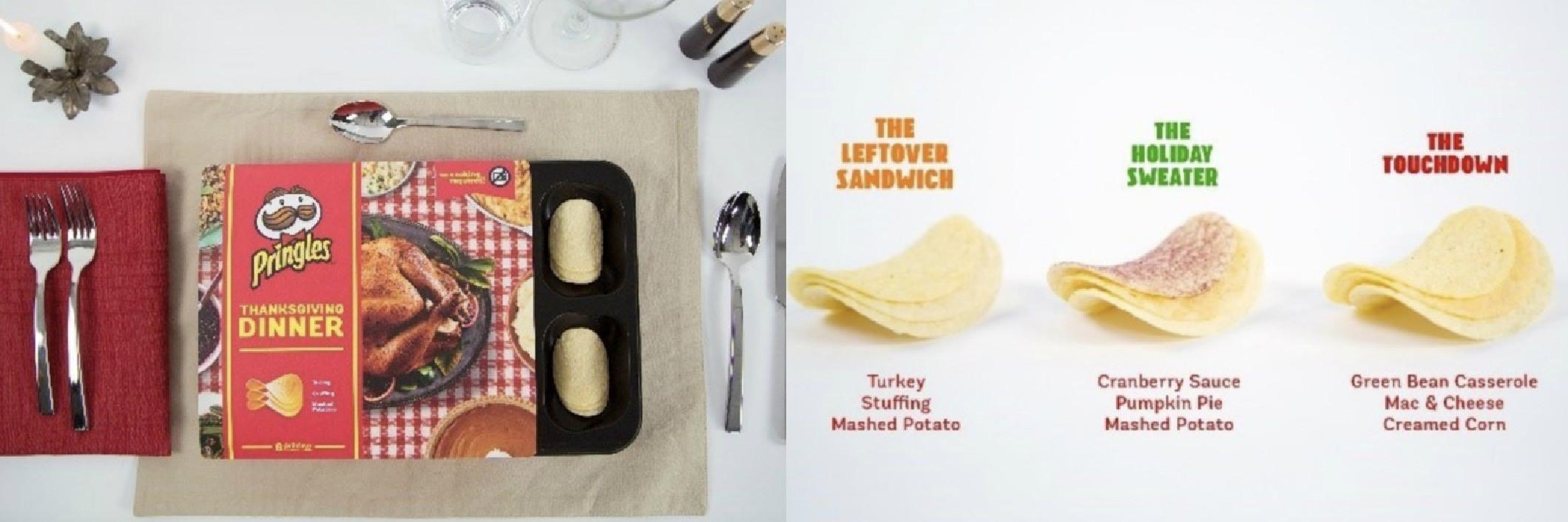 Thanksgiving Dinner Pringles  Pringles Recreates Thanksgiving Dinner With Eight New Chip