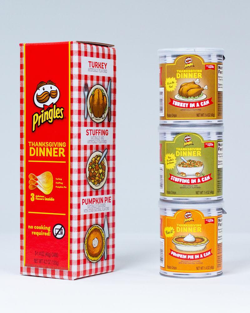 Thanksgiving Dinner Pringles  Stackable Thanksgiving Chips the Pringles Thanksgiving
