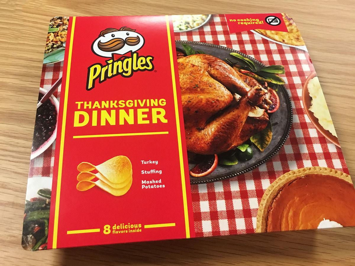 Thanksgiving Dinner Pringles  We Tasted Pringles' Limited Edition Thanksgiving Dinner