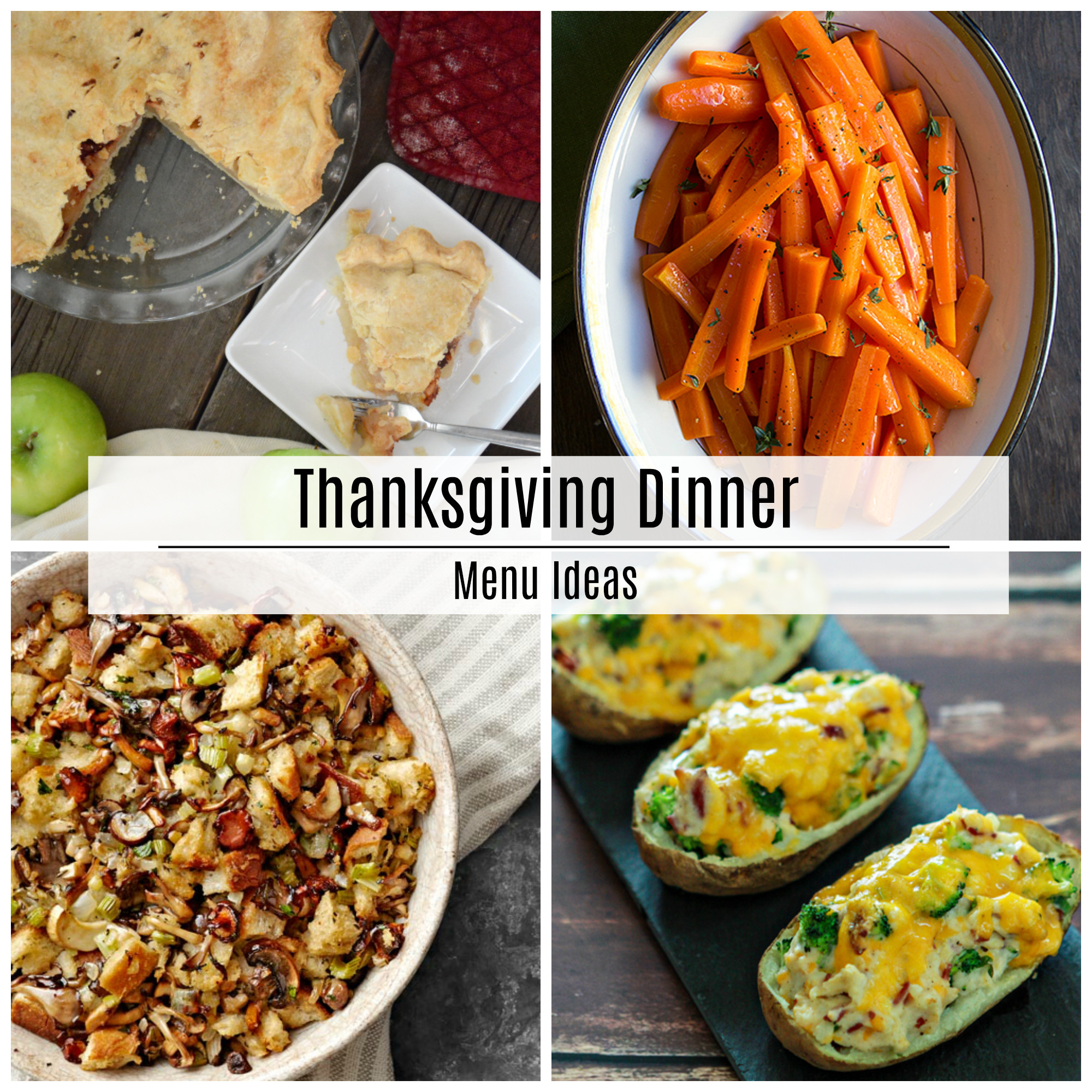 Thanksgiving Dinner Recipes  Thanksgiving Dinner Menu Recipe Ideas The Idea Room