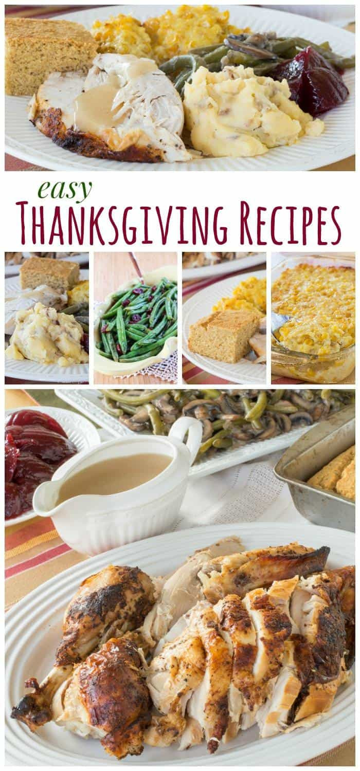 Thanksgiving Dinner Recipes  Easy Thanksgiving Recipes Cupcakes & Kale Chips